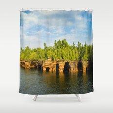 Sea caves #7 Shower Curtain