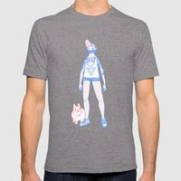 Short Shorts! Mens Fitted Tee Tri-Grey SMALL