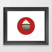 Cupcake Series Framed Art Print
