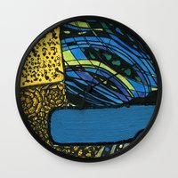 Town By The Ocean Wall Clock