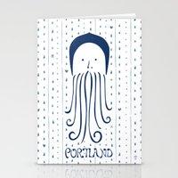 Rainy Hoodie Beardy Stationery Cards