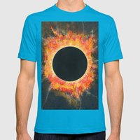 Eclipse Mens Fitted Tee Teal SMALL
