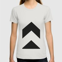 B/N Womens Fitted Tee Silver SMALL