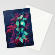 Tropical Flower - Blue Lilly Stationery Cards