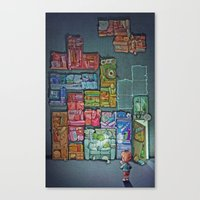 Tetris Tribute Canvas Print