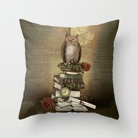 The Bibliophile - (the lover of books) Throw Pillow