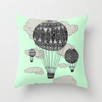 Hot Air Ballooning Throw Pillow