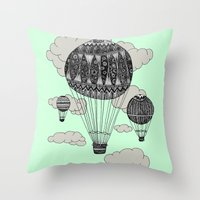 Hot Air Ballooning Throw Pillow