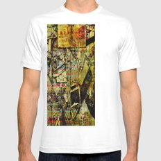 PIECESDETACHEES White Mens Fitted Tee SMALL