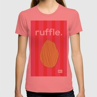 Ruffle Womens Fitted Tee Pomegranate SMALL