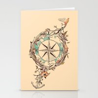 map Stationery Cards featuring Bon Voyage by Norman Duenas