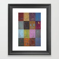 The Simulacrumtastic Parade of Self Divisible by 16 Framed Art Print