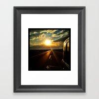 Leaving The Sun Behind. Framed Art Print