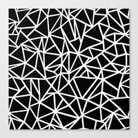 Abstract Outline Thick W… Canvas Print