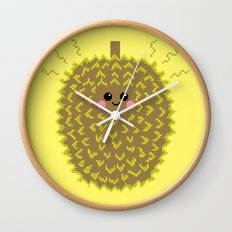 Happy Pixel Durian Wall Clock