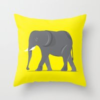 Elephant. Throw Pillow