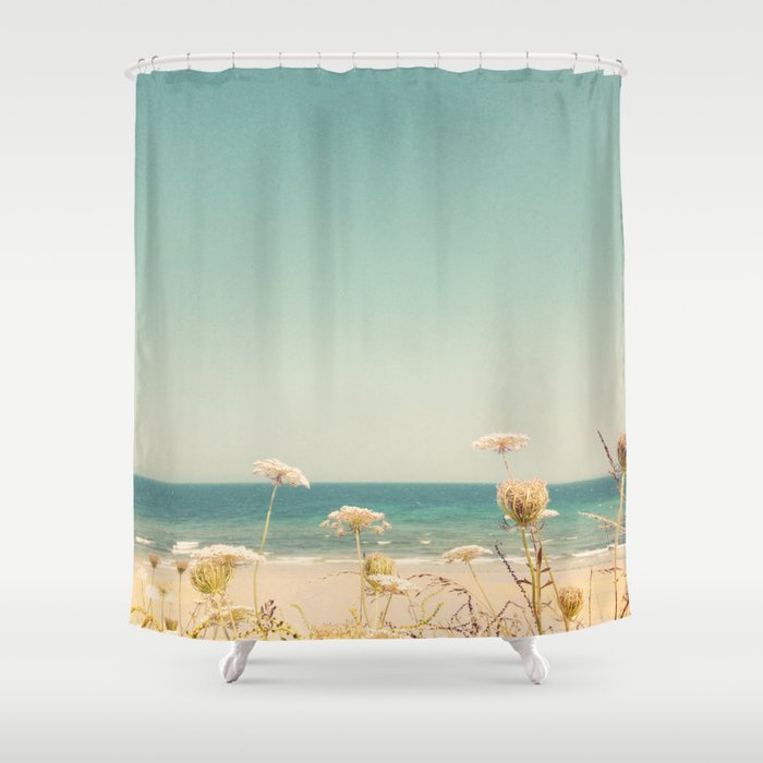 Water And Lace Shower Curtain By Cassia Beck
