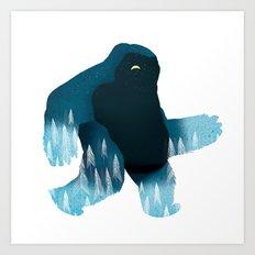 Yeti at Night Art Print