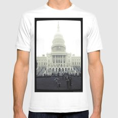 Our Nation's Capitol Mens Fitted Tee SMALL White