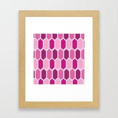 Pink Crystal Pattern Framed Art Print