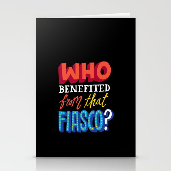 This Fiasco Stationery Card