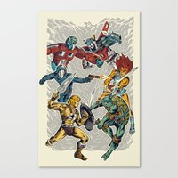 80's Smash Canvas Print