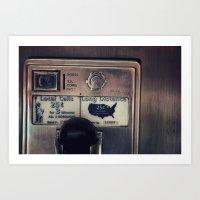 Pay Phone III Art Print