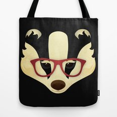 Hipster Badger Tote Bag