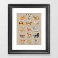 Exotic Cats Framed Art Print
