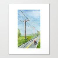 Afternoon Bike Ride Canvas Print