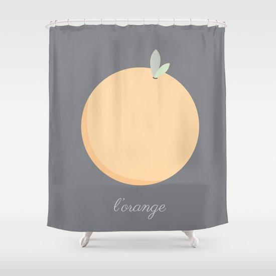 L'orange Shower Curtain