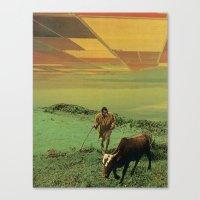 Shepherd Of The Plains Canvas Print