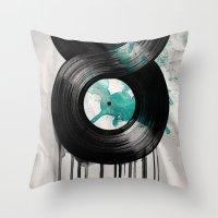Infinite Vinyl Throw Pillow