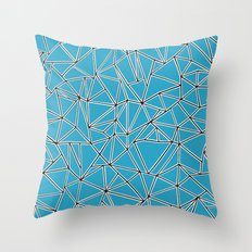 Shattered Ab Blue Throw Pillow