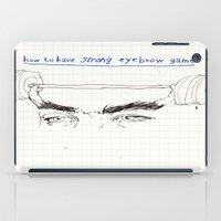 strong eyebrows iPad Case