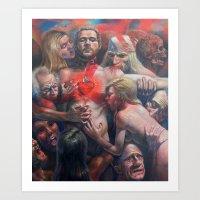 Orgía Caníval Art Print