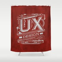 UX - Industrial Design - Red Shower Curtain