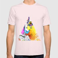 Let Go Mens Fitted Tee Light Pink SMALL