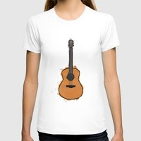 guitar T-shirts featuring Guitar by elyinspira