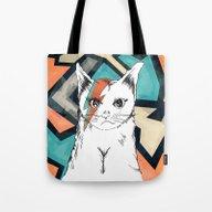 KITTIE BOWIE PRINT Tote Bag