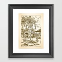 Malay Fishing Village Framed Art Print