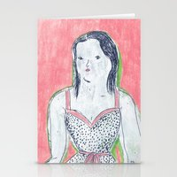 The Girl Is Waiting Stationery Cards