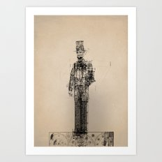 American Blueprint Art Print
