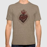 Bleeding Heart Mens Fitted Tee Tri-Coffee SMALL