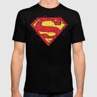 Super Man's Splash Mens Fitted Tee Black SMALL
