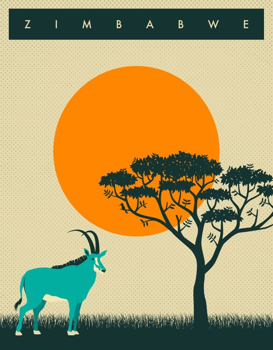 Zimbabwe travel poster Art Print
