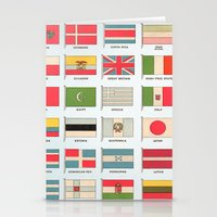 Vintage World Flags Stationery Cards