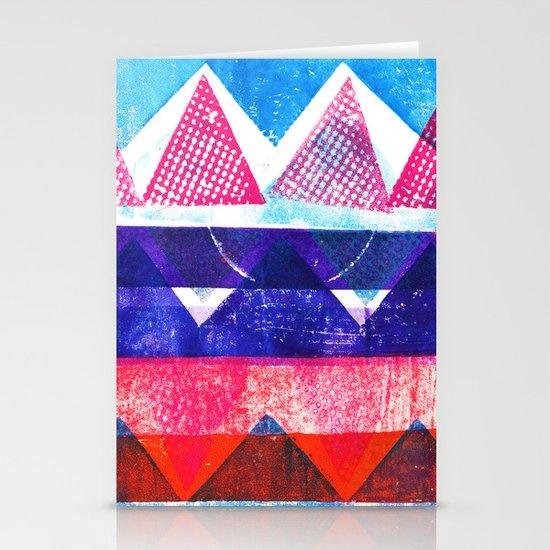 Press print and digital triangles Stationery Card