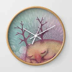 Deep Winter Dreaming (With Eyes Closed) Wall Clock