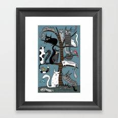 CAT TREE Framed Art Print